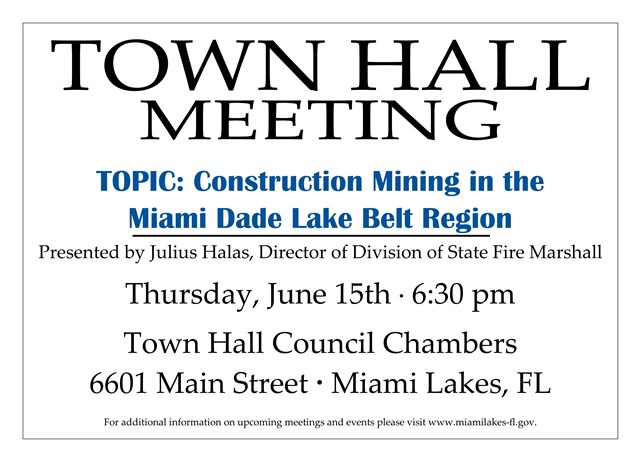06 15 2017 Town Hall Meeting Blasting Pop Up