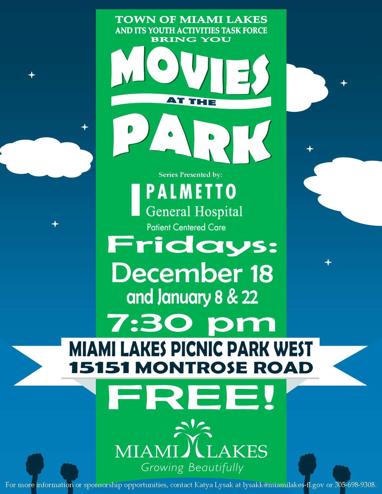 2015 MOVIES IN THE PARK FLYER 4