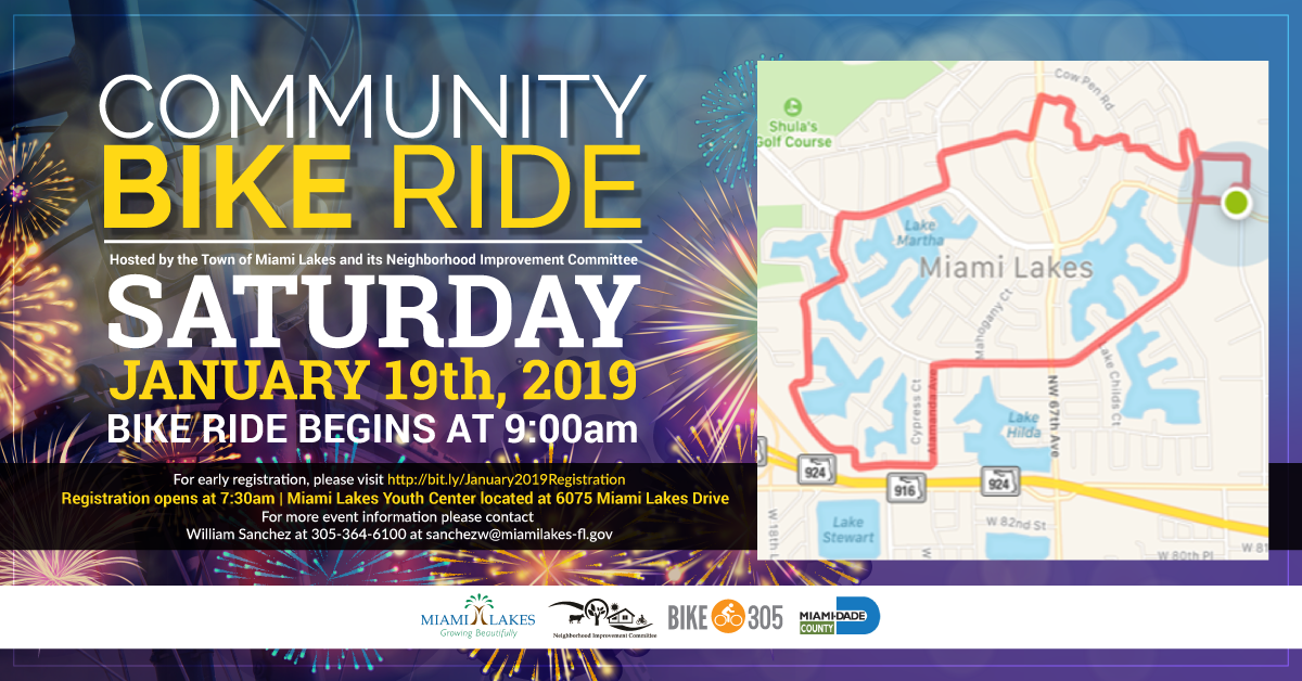 Community Bike Ride Flyer