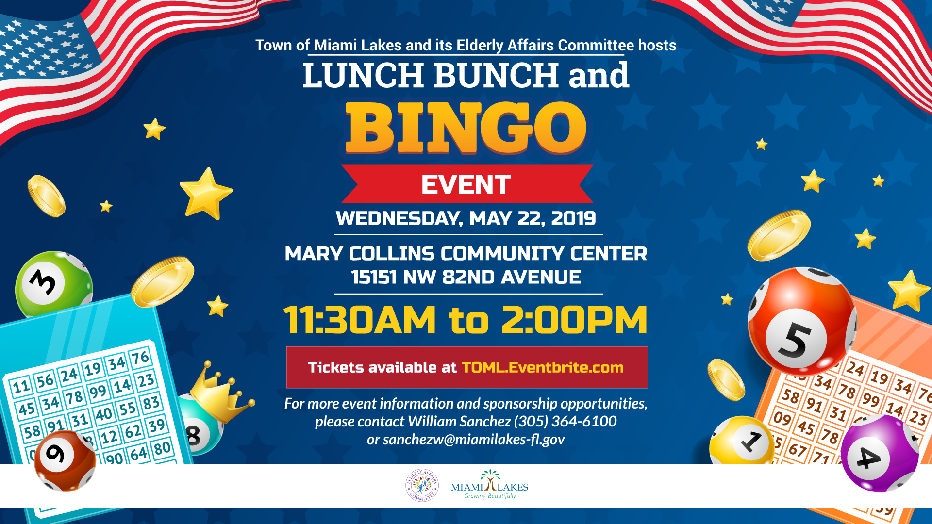 Lunch Bunch Bingo flyer