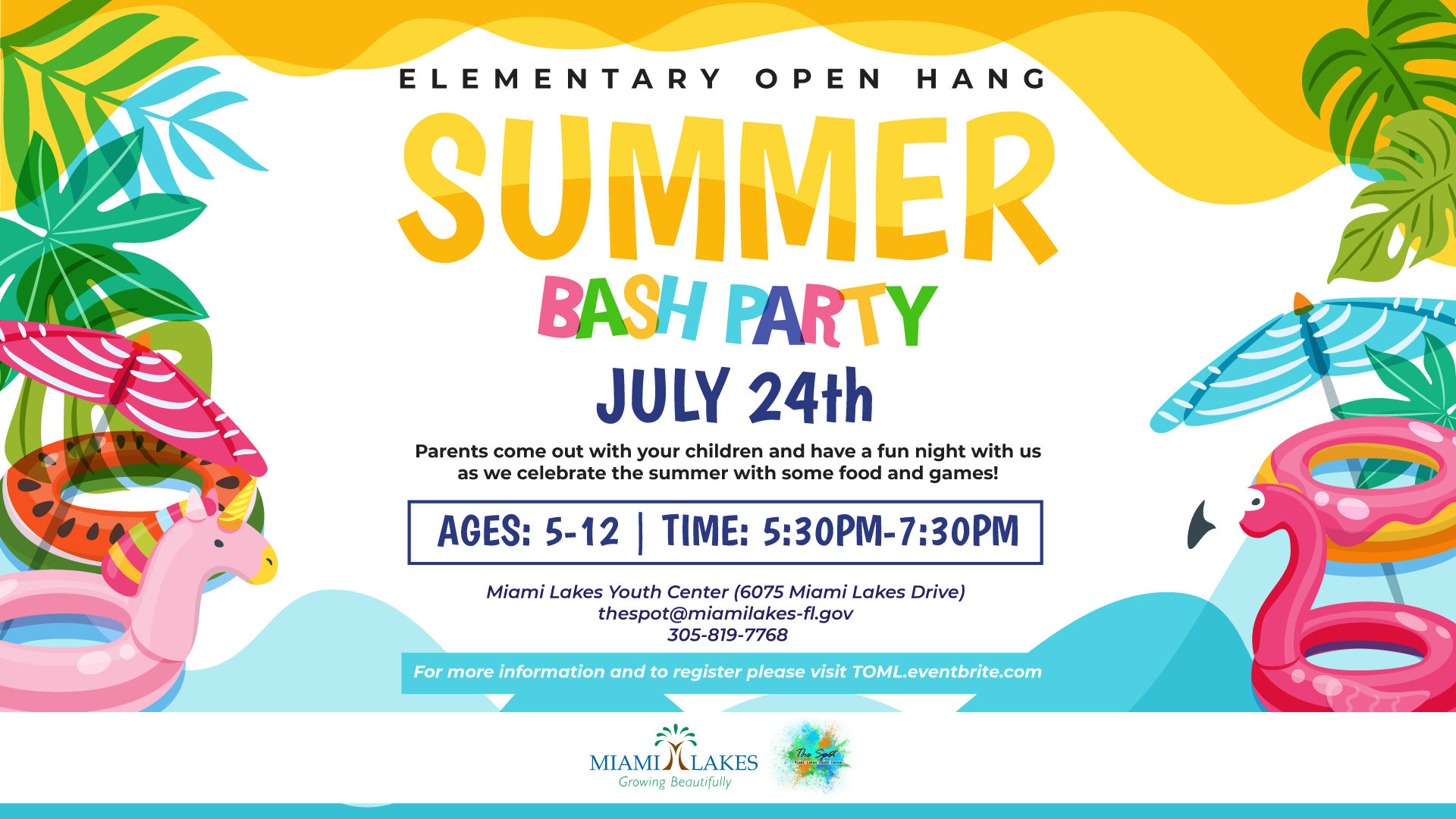 Elementary Open Hang Summer flyer