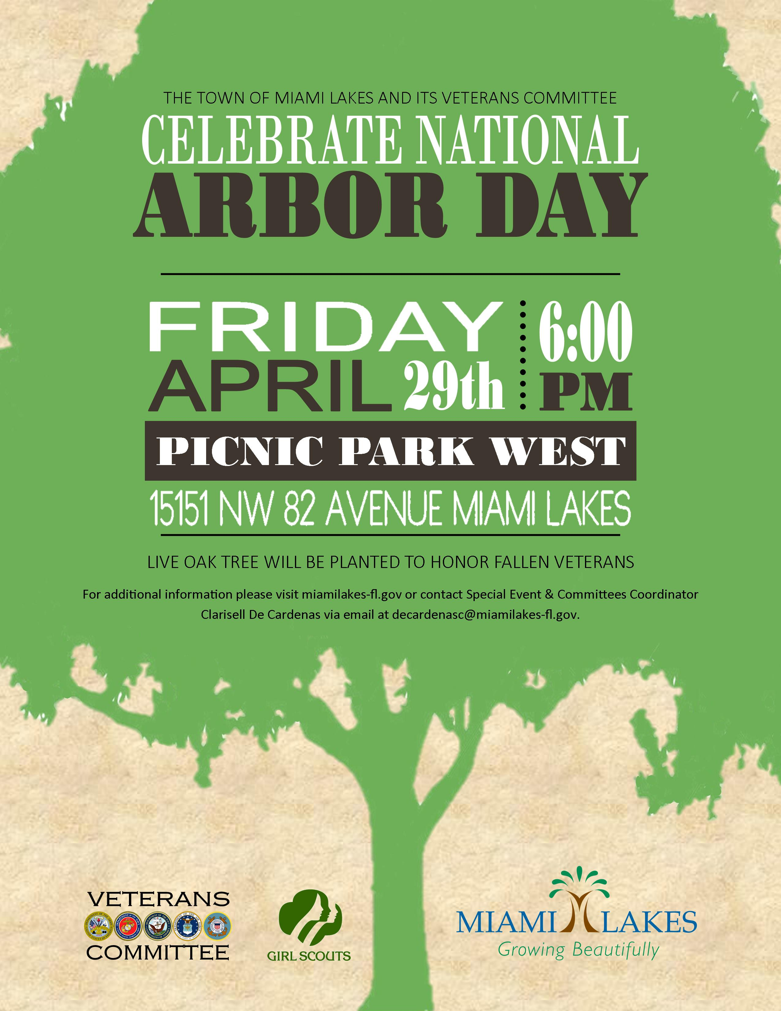 Arbor Day Tree Planting Veterans Flyer