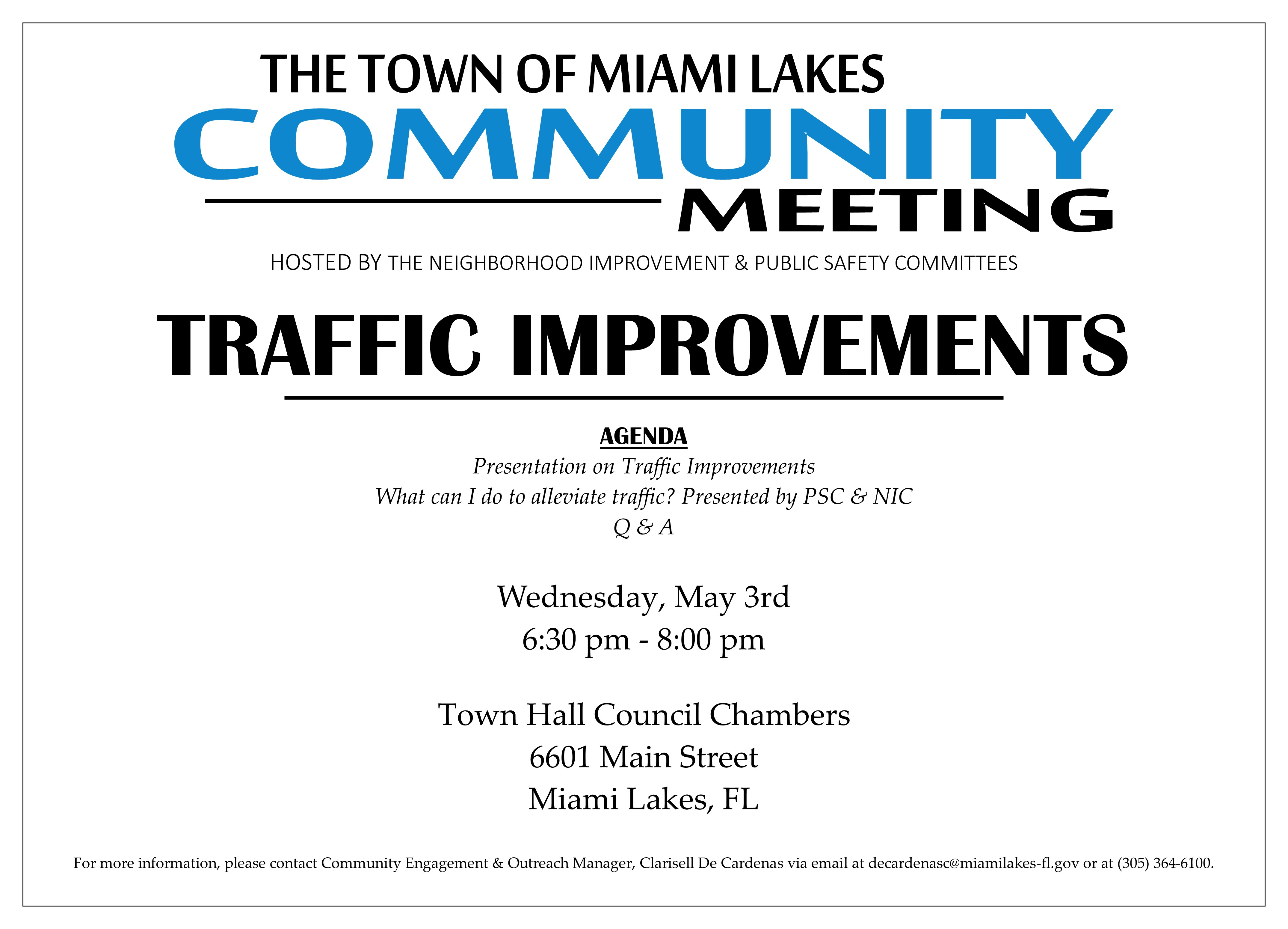 Community Meeting 05.03.2017 Traffic