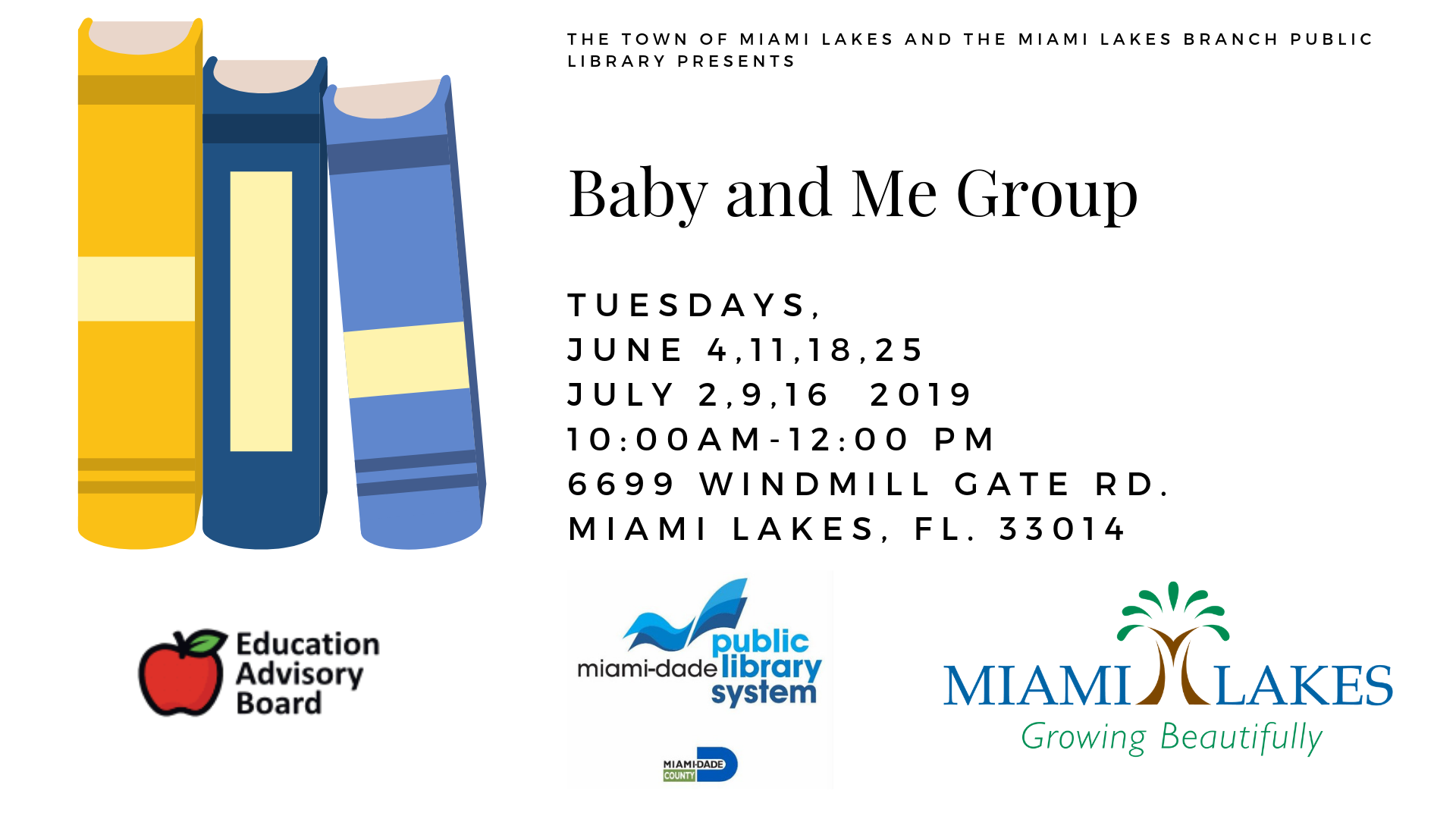 EAB Library Events Baby and Me Group