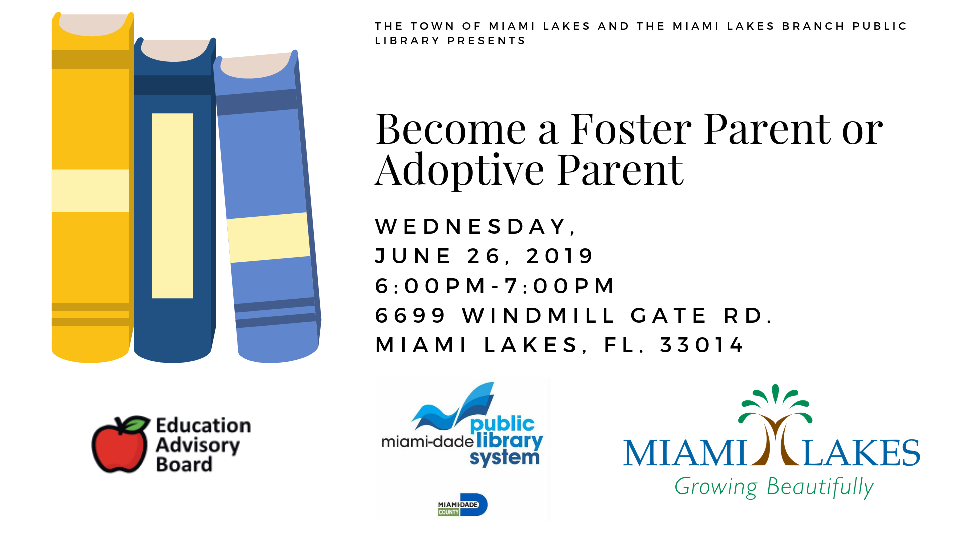 EAB Library Events Become a Foster Parent or Adoptive Parent