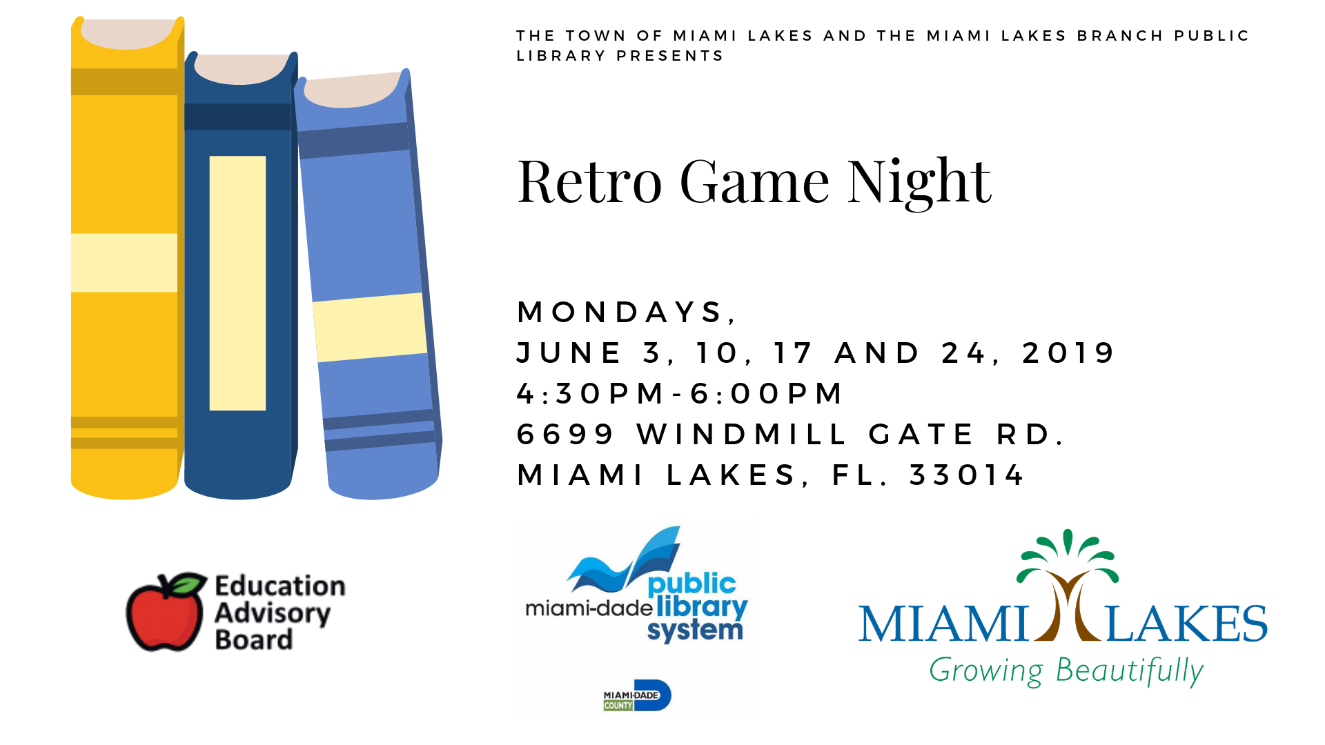 EAB Library Events Retro Game Night