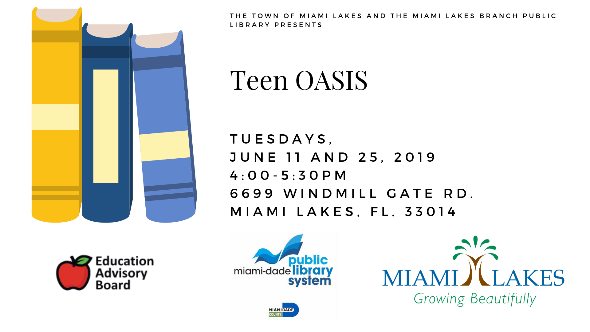EAB Library Events Teen OASIS