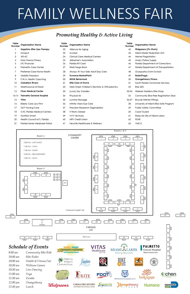 Health Fitness Fair Flyer floor plan4try