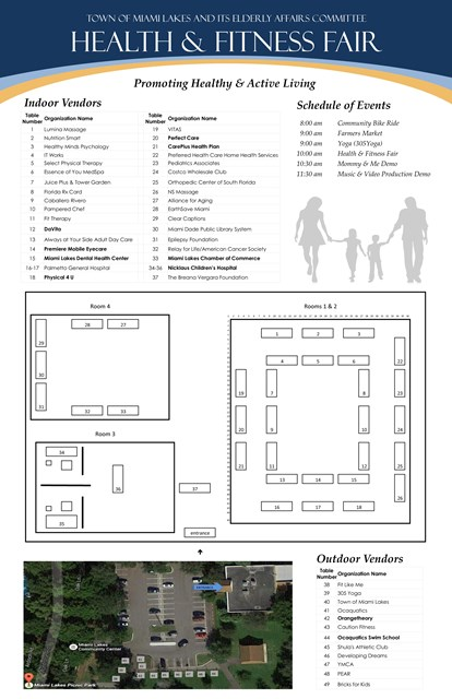 Health Fitness Fair Flyer floor plan flyer 2017 website