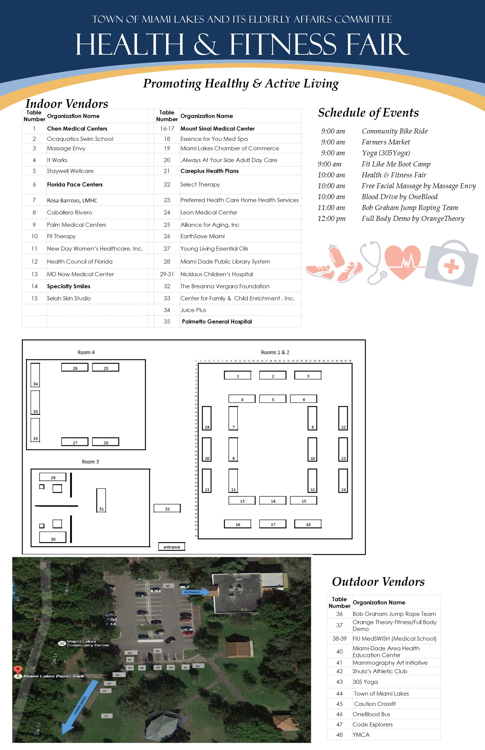 Health Fitness Fair Flyer floor plan flyer 2018