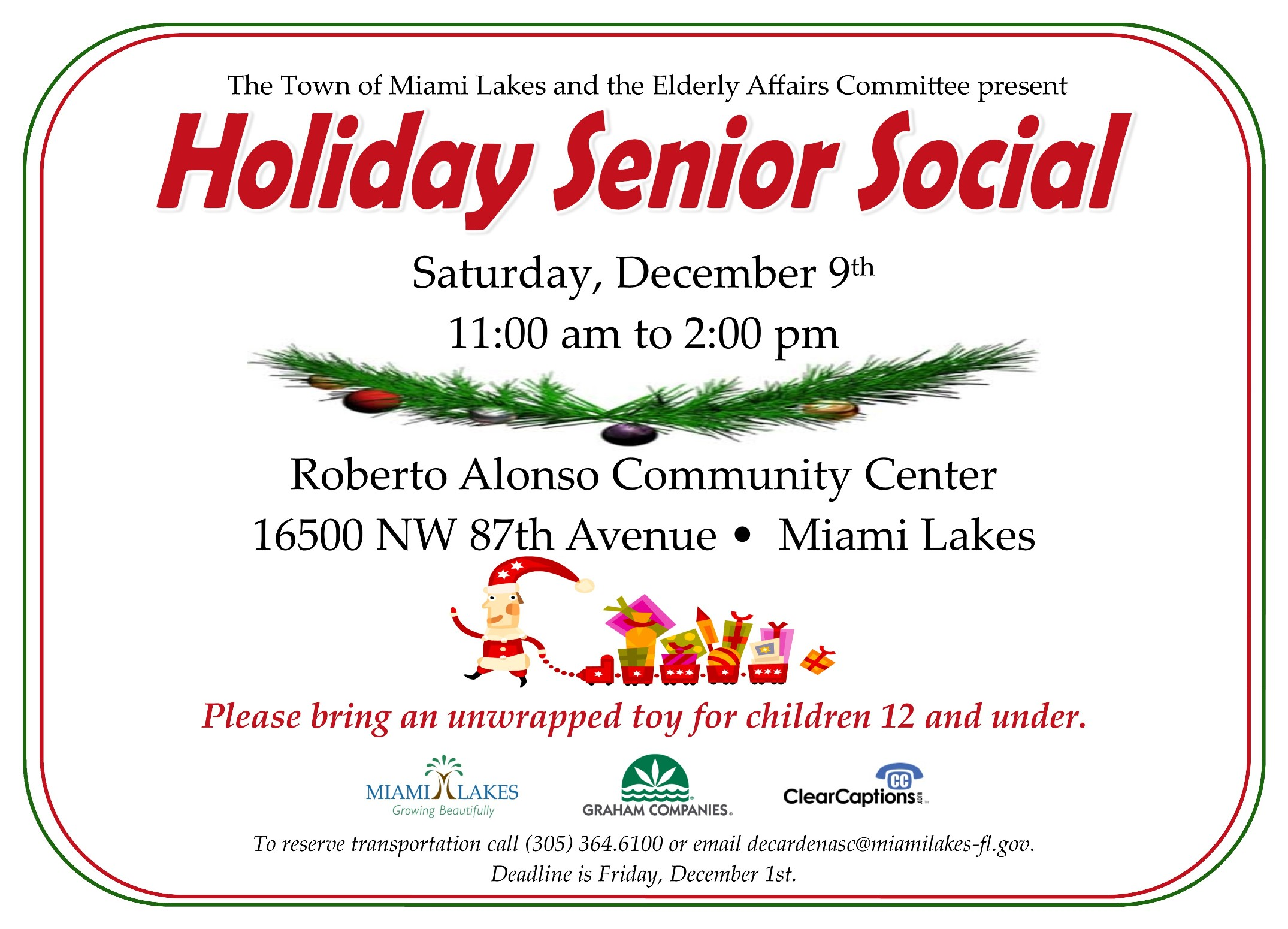 Holiday Senior Social 2017