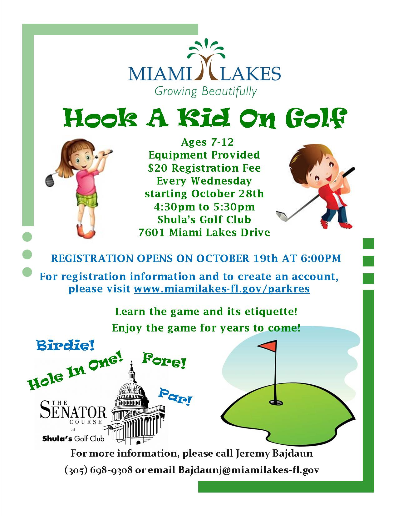 Hook A Kid On Golf flyer 9.28.2015