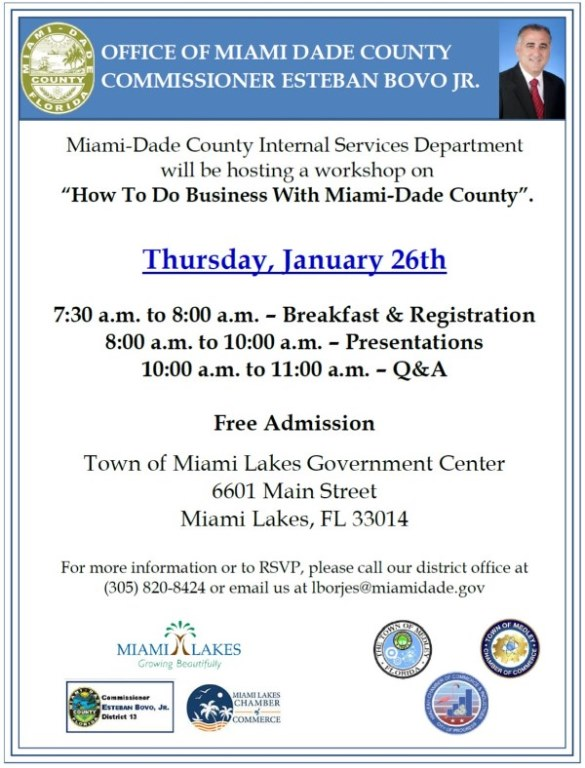 How to do Business with Miami Dade County 2017