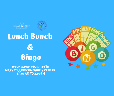 Lunch Bunch and Bingo March 27th Flyer