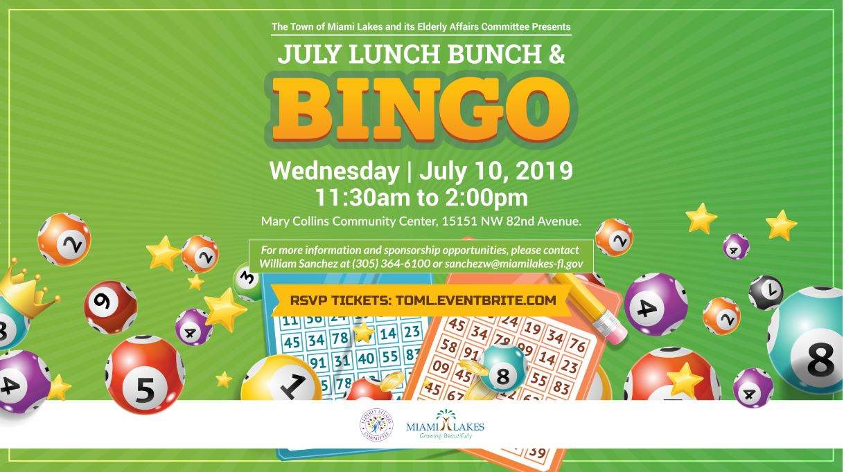 Lunch bunch and Bingo July 10th Flyer