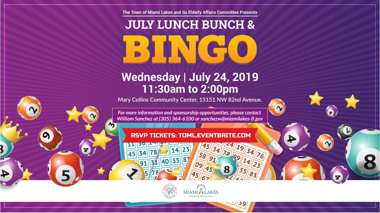 Lunch bunch and Bingo July 24th