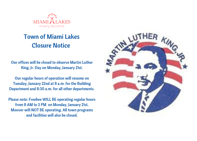 Town Of Miami Lakes Growing Beautifully Martin Luther King Jr