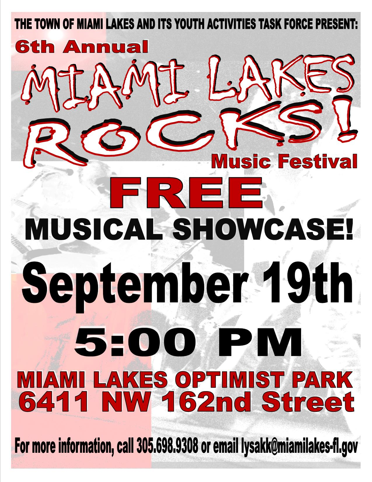 Miami Lakes Rocks 2015 Flyer