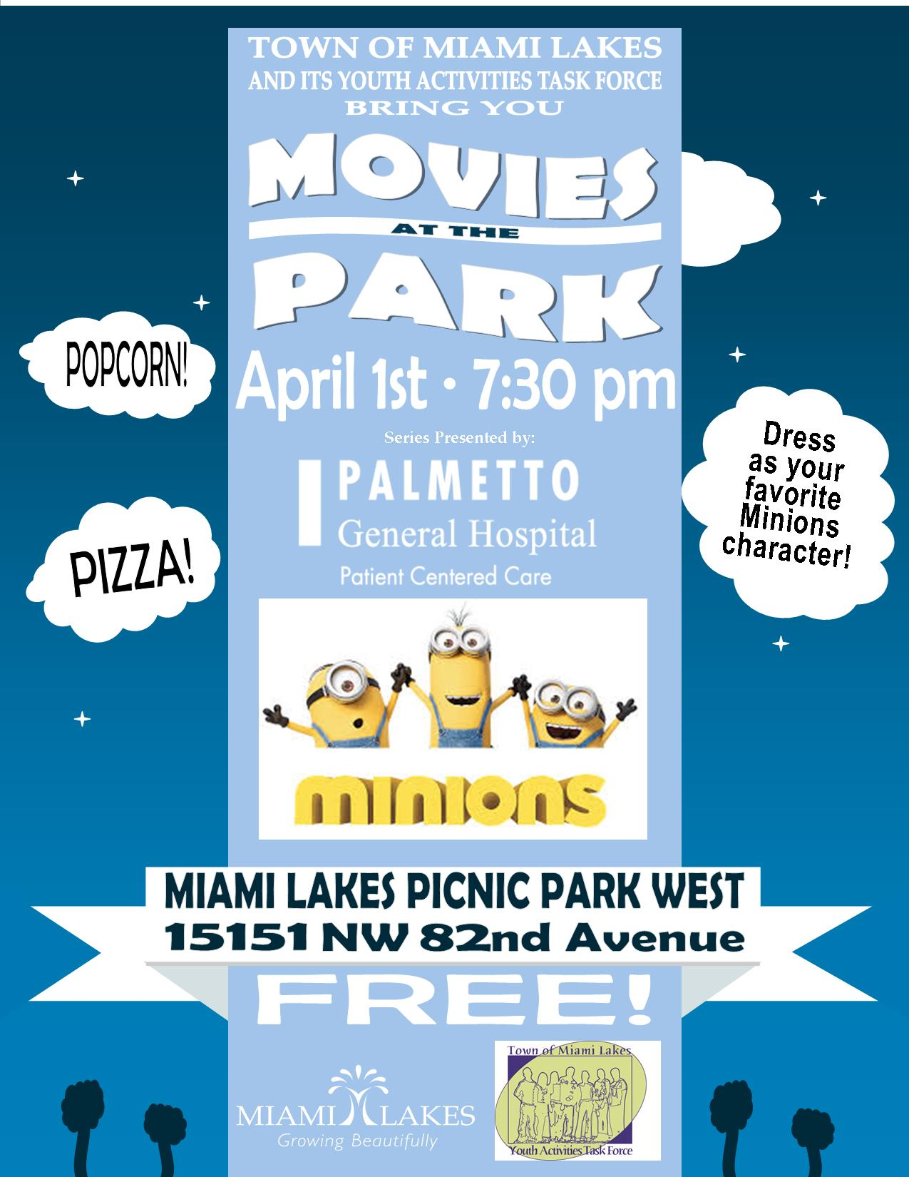 Minions April 1st Flyer