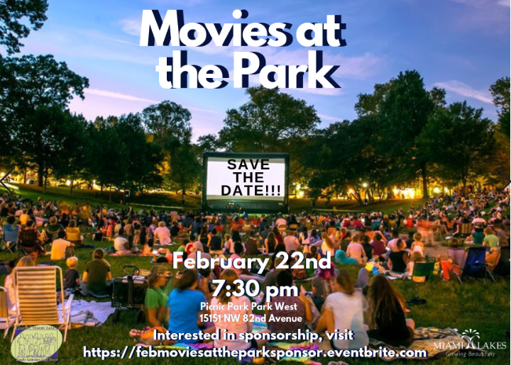 Movies at the Park Save the Date Flyer