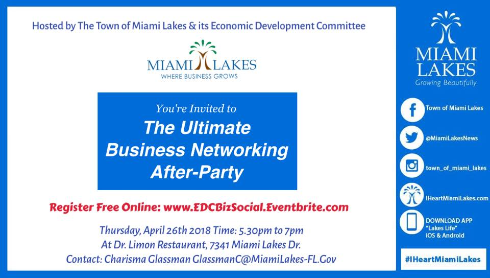 Networking Social April 26th