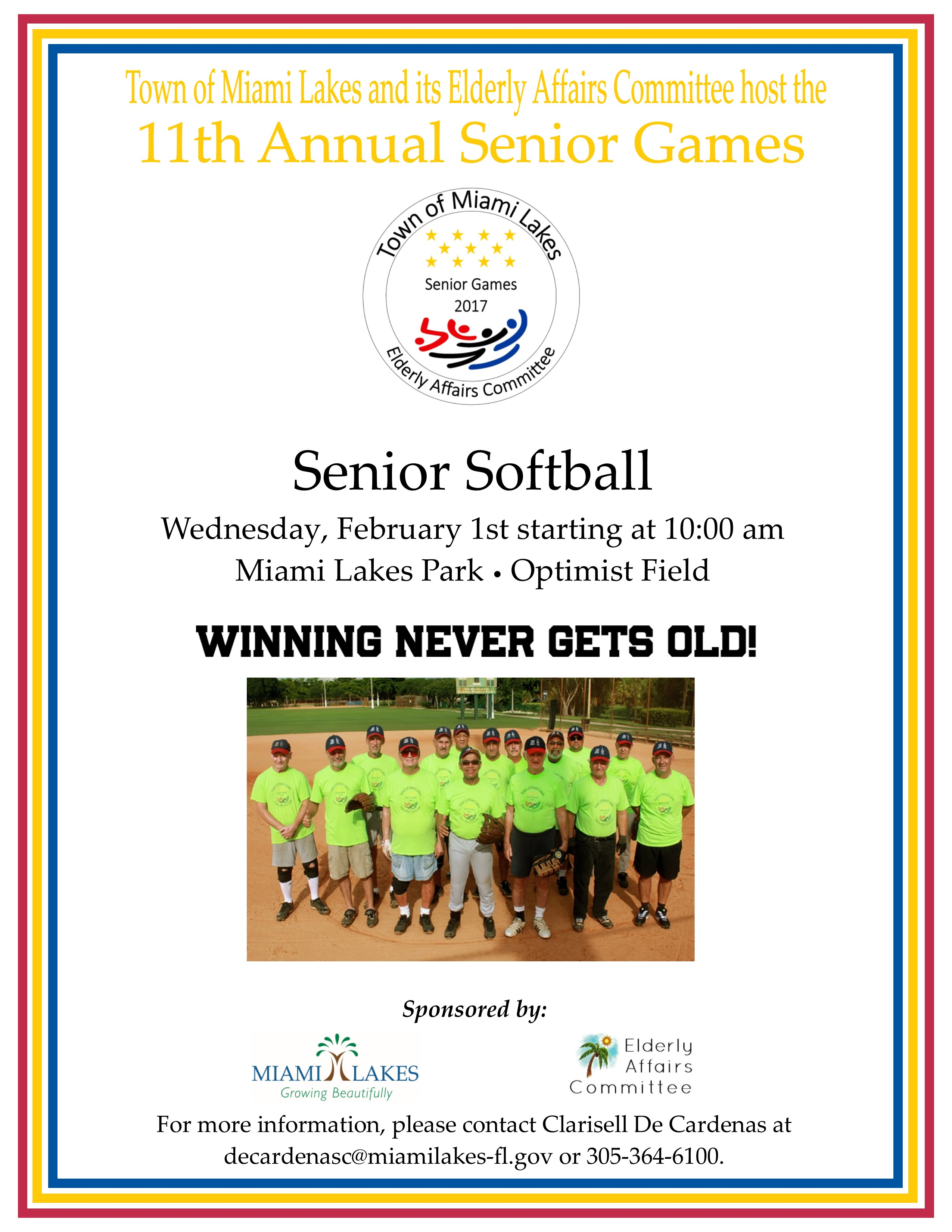 Senior Games Softball 2017