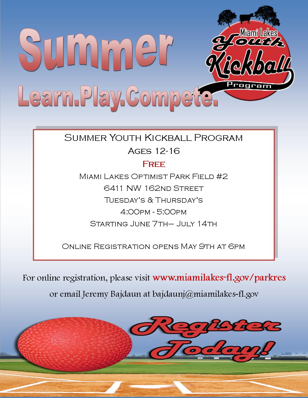 Summer Kickball Flyer