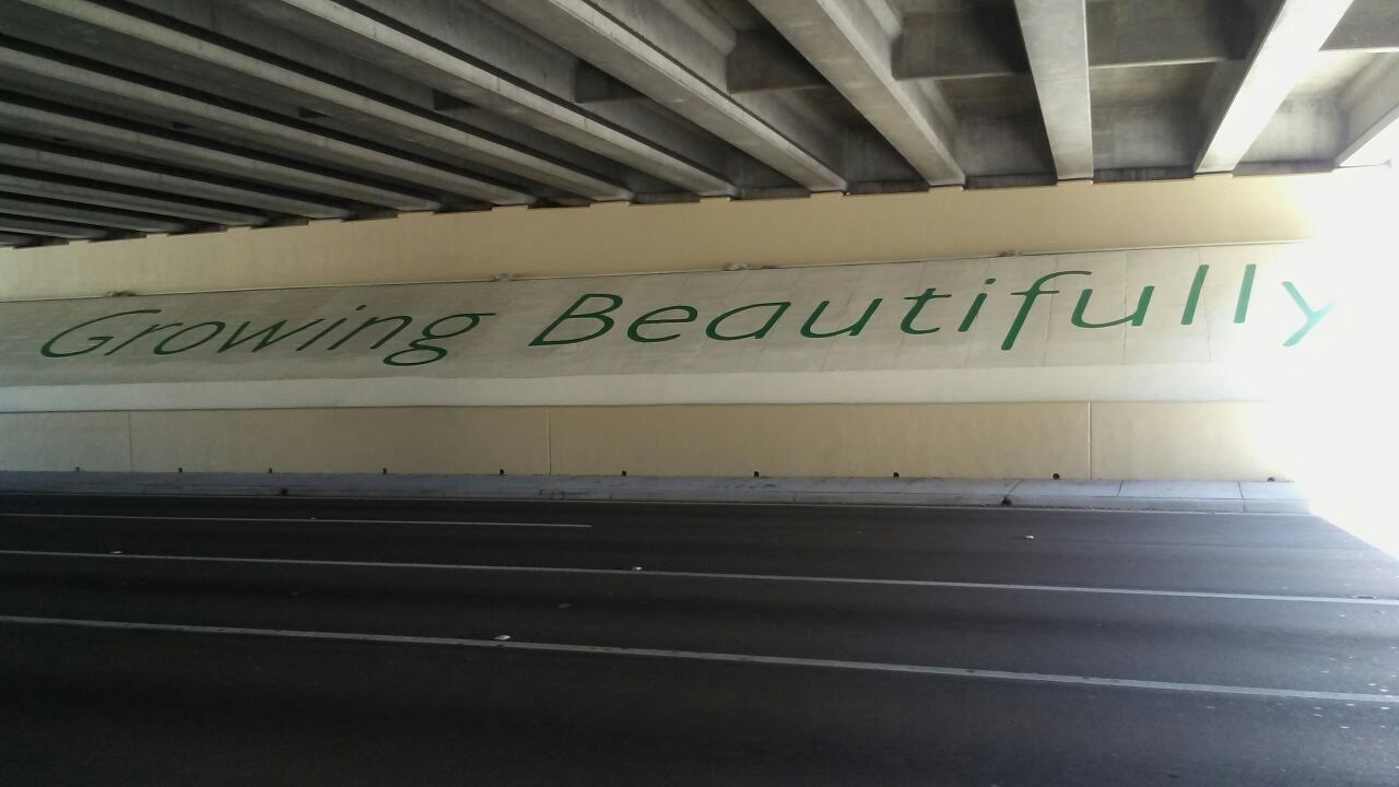 UNDERPASS GROWING BEAUTIFULLY STENCIL
