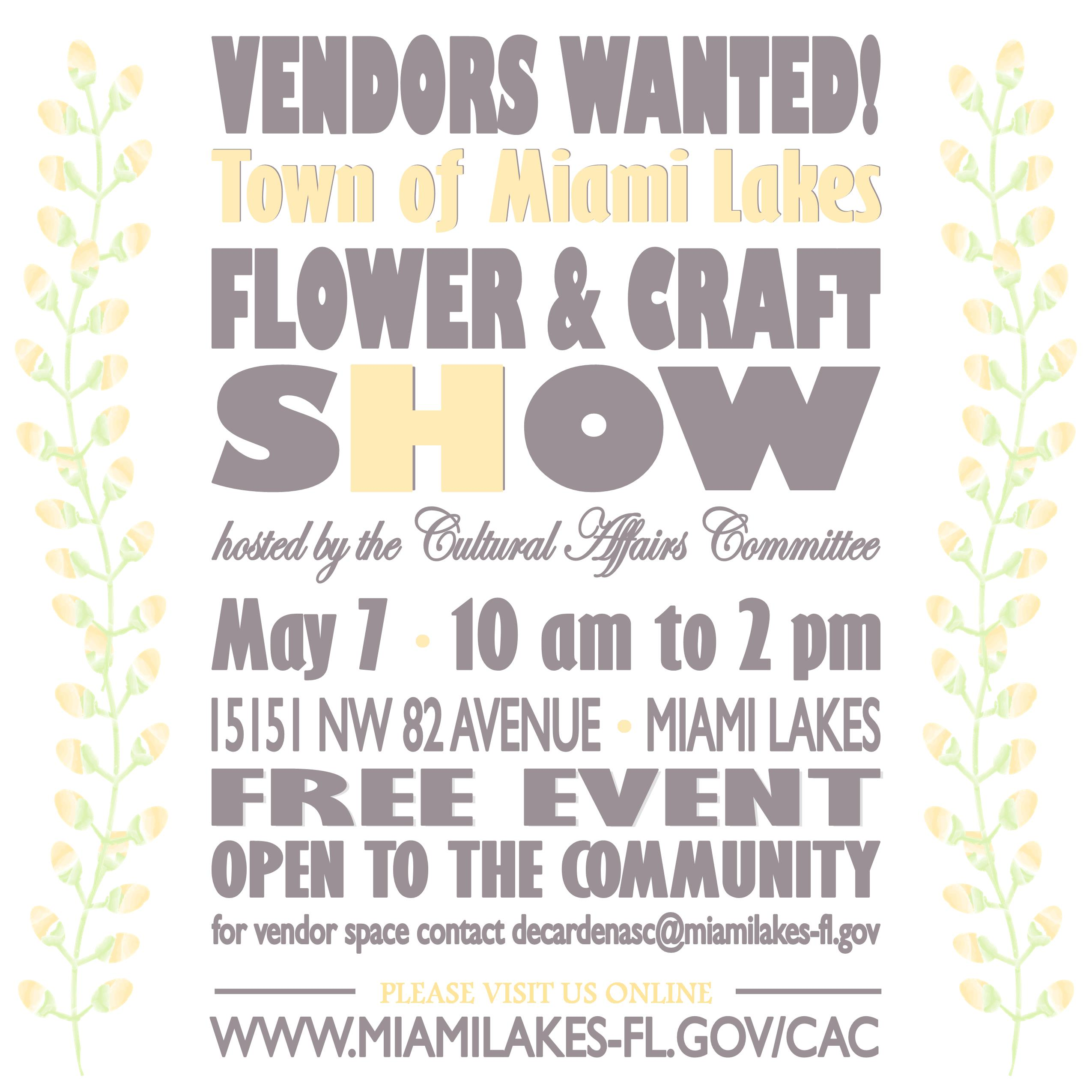 Vendors Wanted 2016 social media only