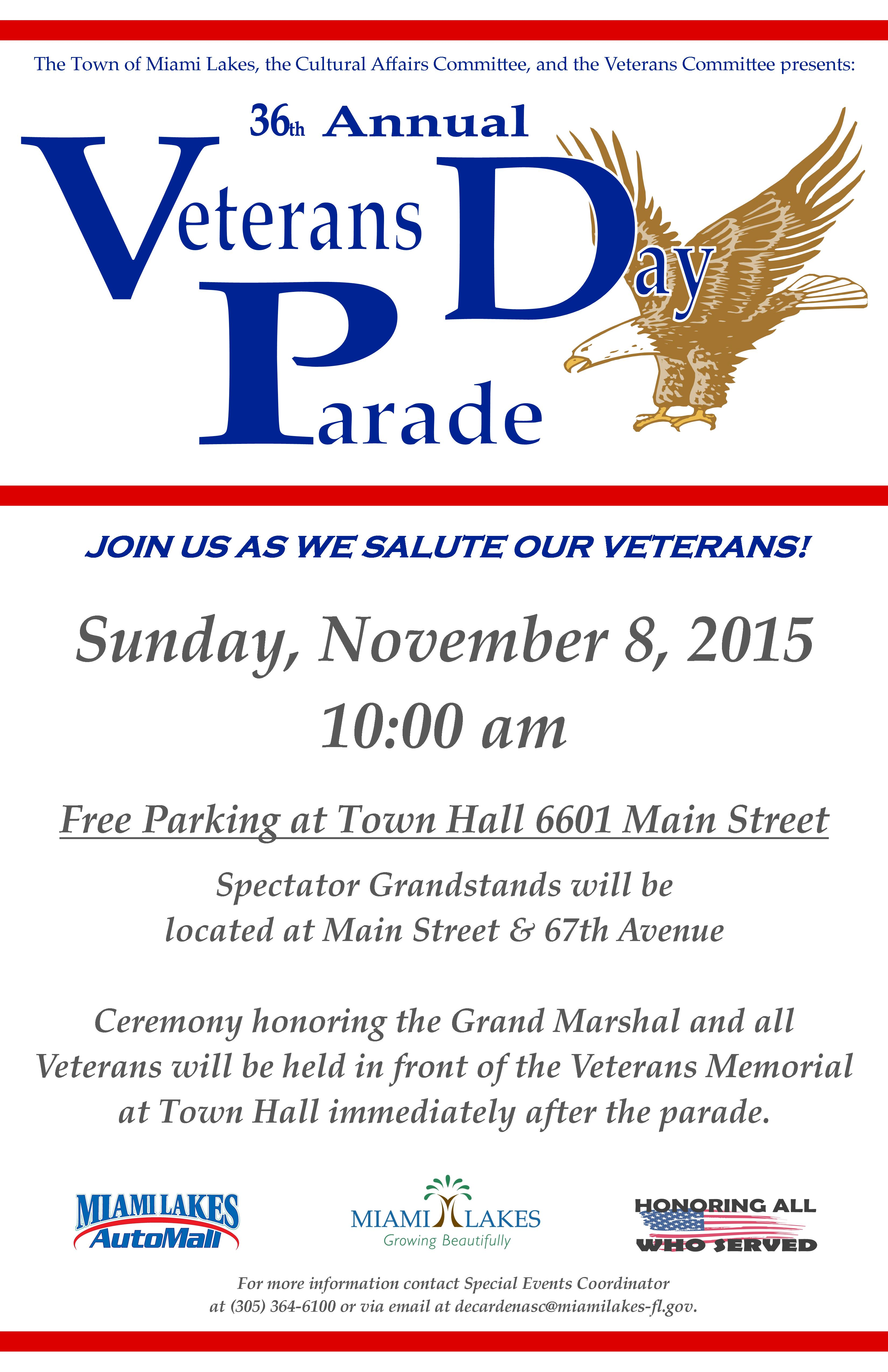Veterans Day Parade Flyer 2015