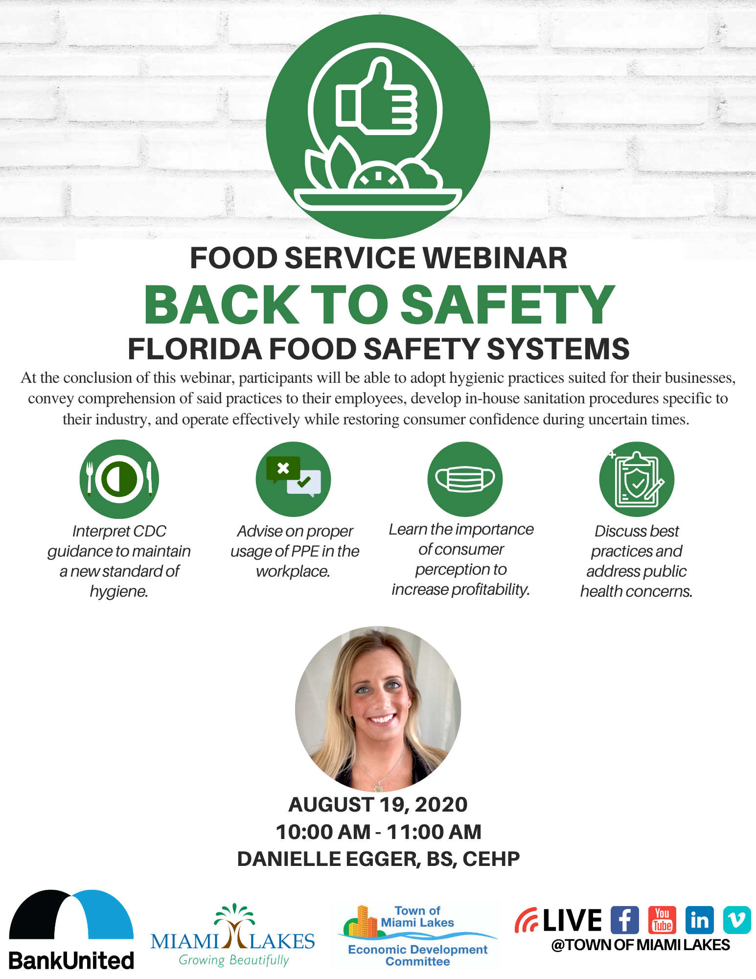 Back to Safety Webinar Flyer