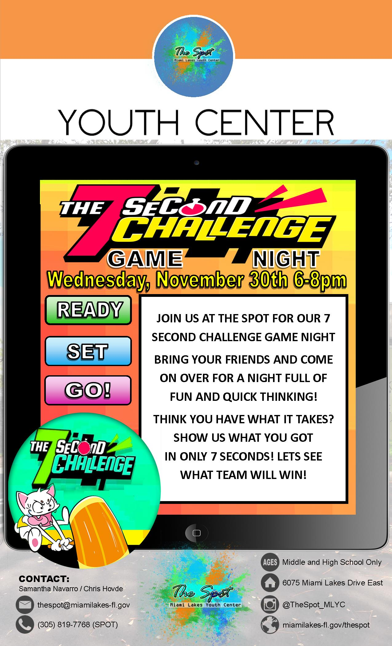 YC 7 Second Challenge Flyer