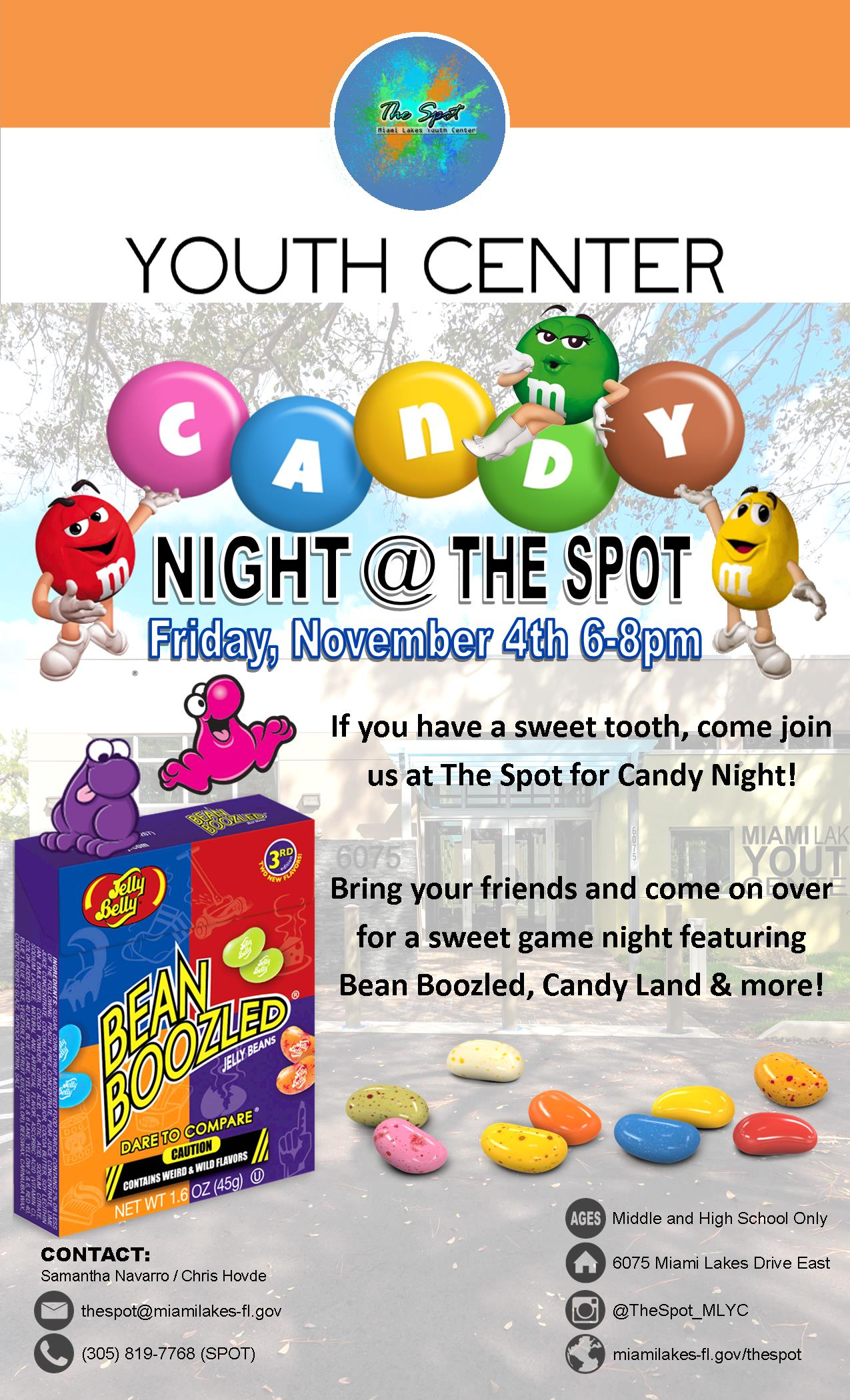 YC Candy Night Flyer
