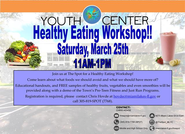 YC Healthy Eating Demo March website