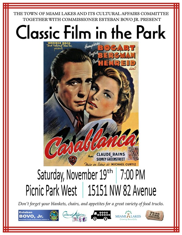 classic film in the park casablanca