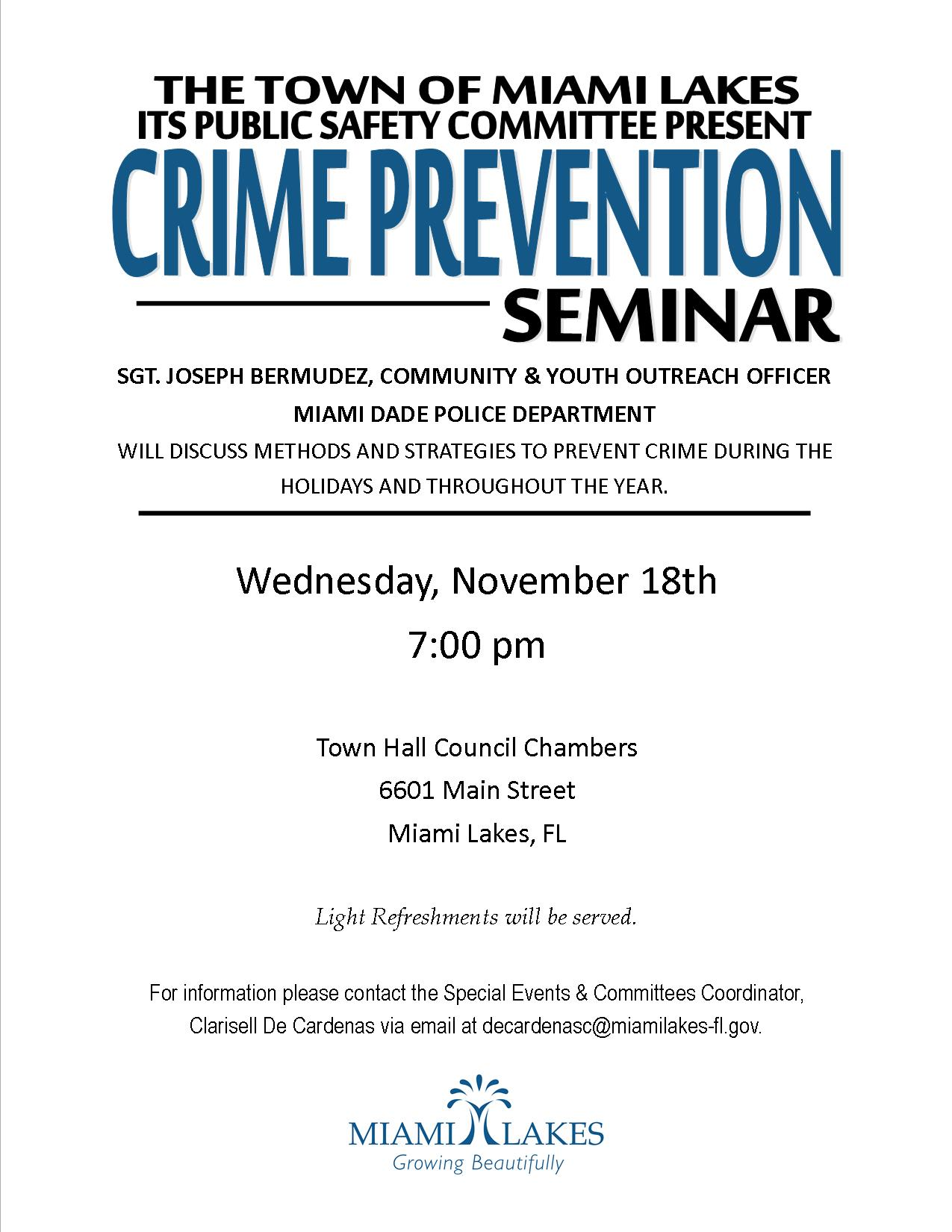 crime prevention seminar flyer