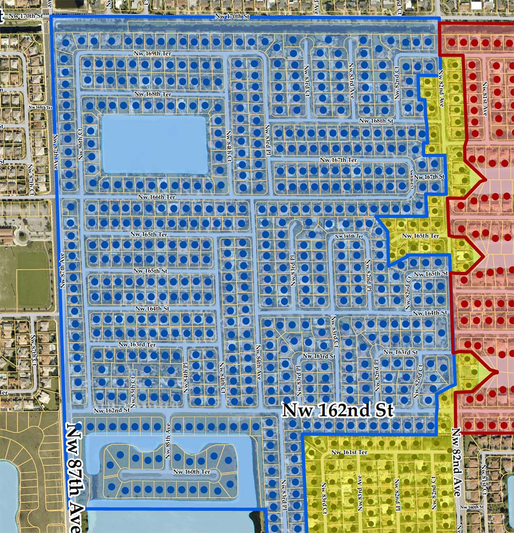 Royal Oaks Section 1 Security Guard Map