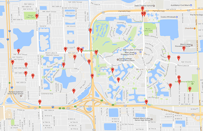 Miami Lakes Transportation Map