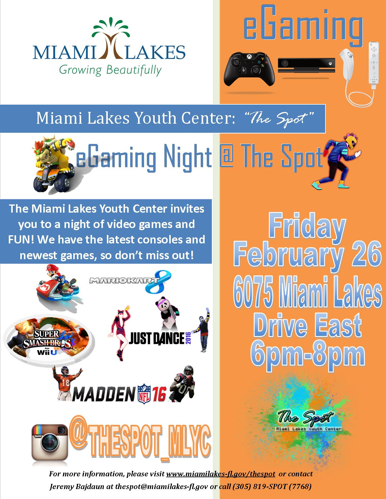 egaming flyer the spot