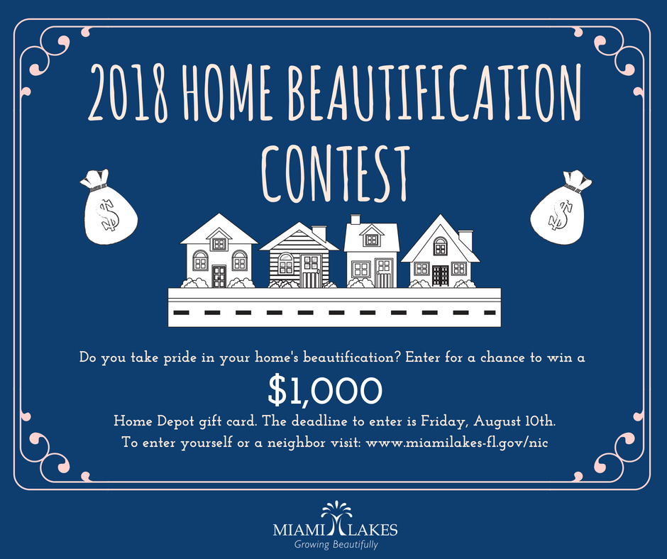 home beautification contest Flyer