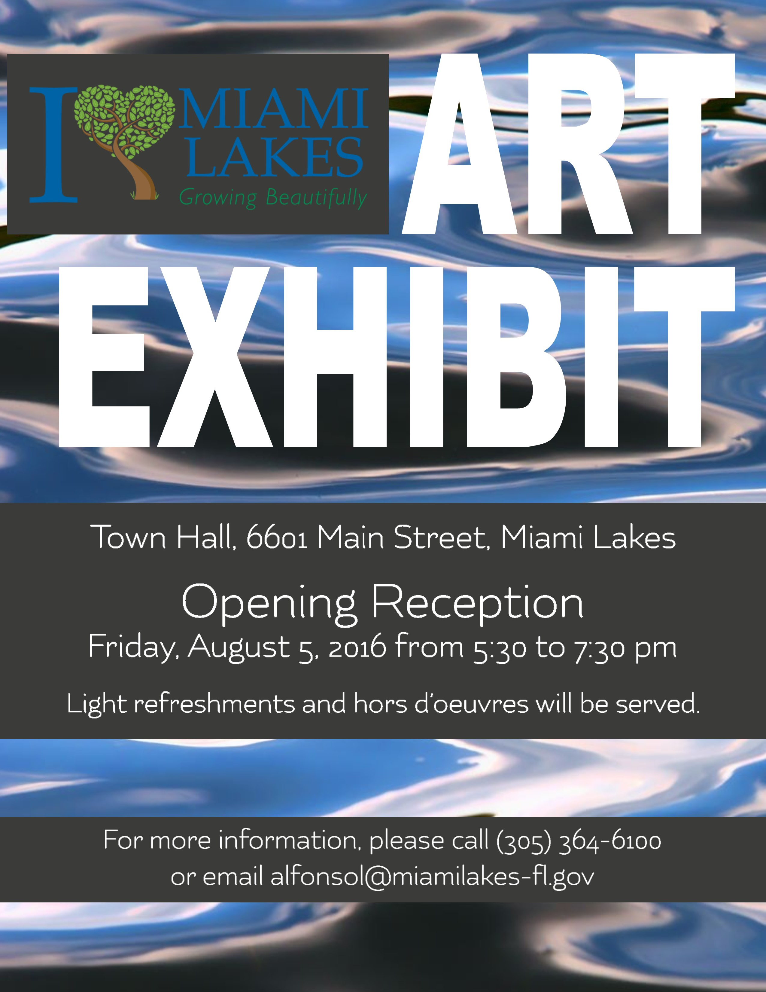 i heart miami lakes art exhibit