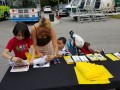 FIT FAIR AND BIKE RODEO REGISTRATION TABLE