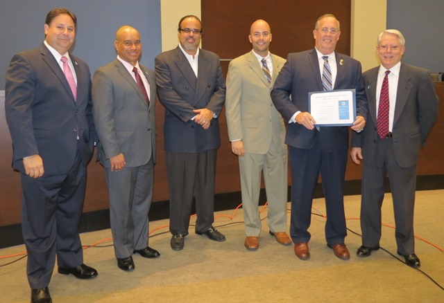 Daubert receiving certificate at Jan. 13 Council meeting WEB