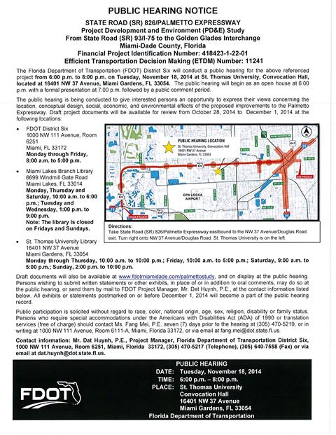 FDOT Public Hearing Notice Nov. 18 2014-web