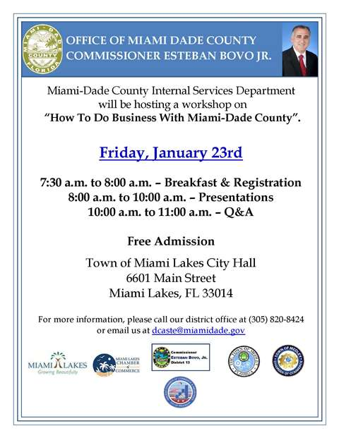 How to do Business with Miami Dade County web
