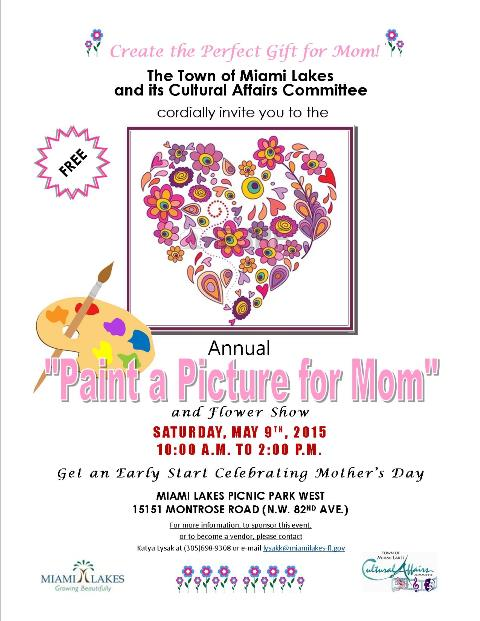 Paint a Picture for Mom Flyer web