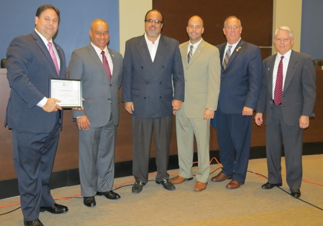 Rodriguez receiving certificate at Jan. 13 Council meeting WEB