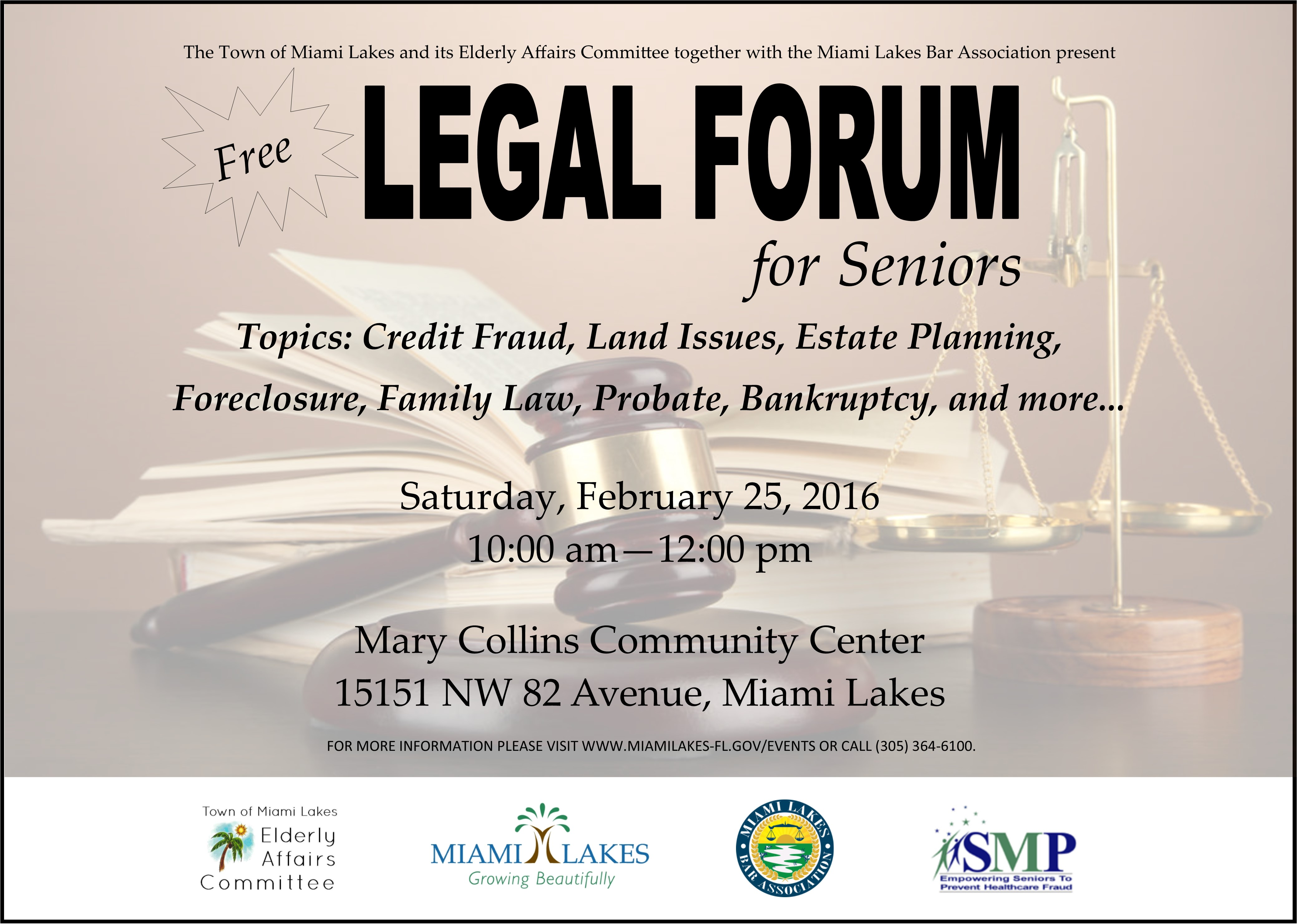 legal forum with sponsor logo