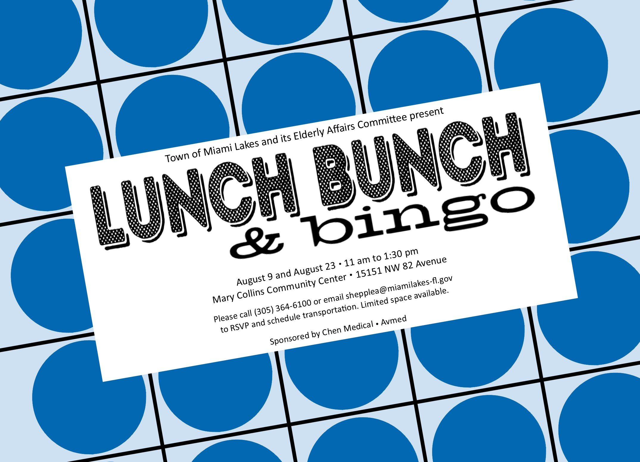 lunch bunch bingo august 2017