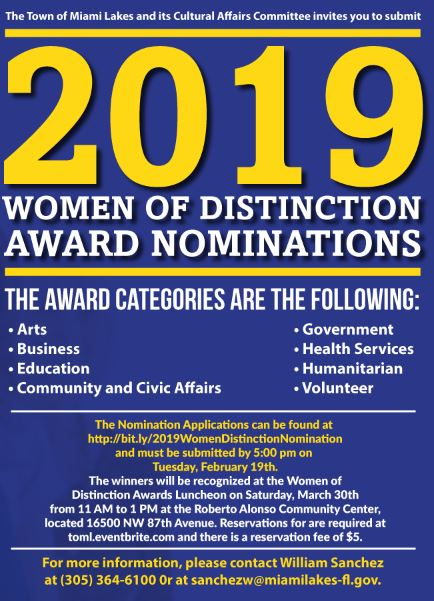 town-seeks-nomination-for-2019-women-of-distinction-awards
